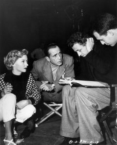 On the set of In a Lonely Place, 1950 - 02