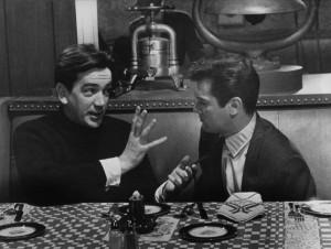 Mackendrick dando instrucciones a Tony Curtis