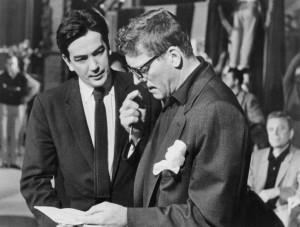 Alexander Mackendrick en el rodaje con Burt Lancaster