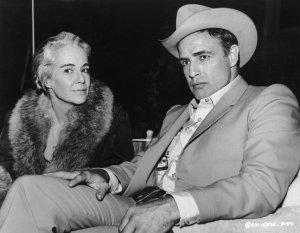 Jocelyn Brando y Marlon Brando