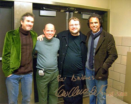 Alfonso Cuarón, Andrés Bermea, Guillermo del Toro, Alejandro González Iñárritu - Nueva York 28 de noviembre de 2006